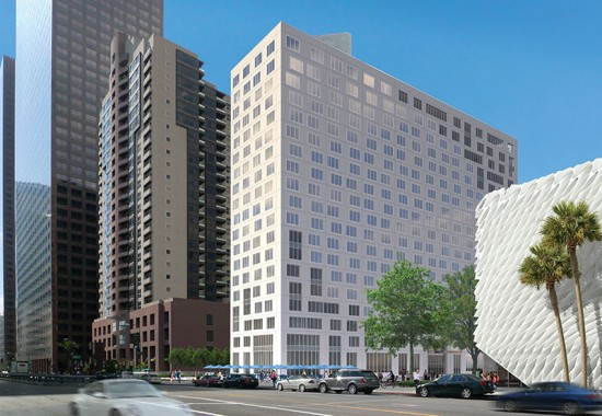 Arquitectonica's new Grand Avenue tower just broke ground. (Courtesy Related Companies)