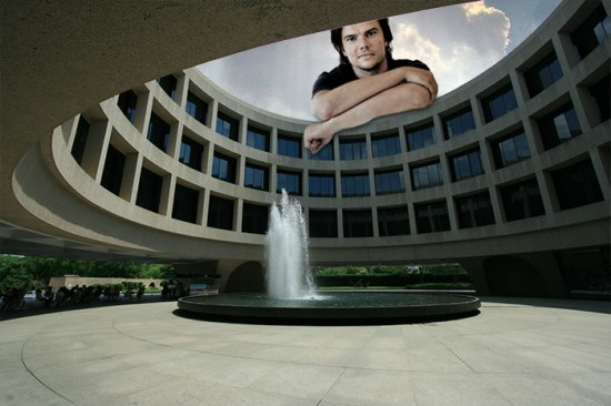 In the courtyard at the Hirshhorn Museum with Bjarke Ingels. (Holley St. Germain / Flickr; Montage by AN)