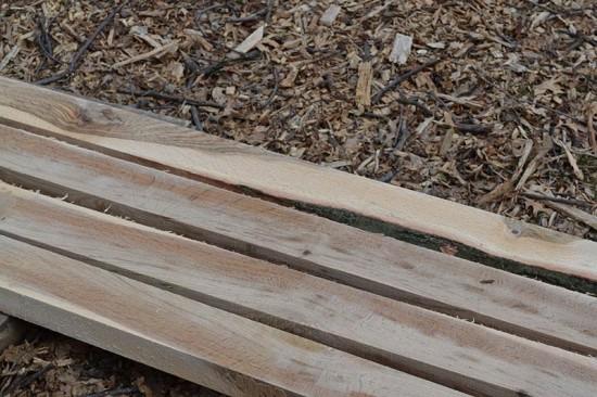 Pin Oak lumber. (Elizabeth Peters)