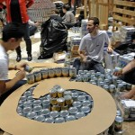 """Parsons Brinckerhoff's """"Canstruction of Confection"""" (Courtesy of Nicole Anderson/AN)"""