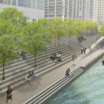 Chicago riverwalk (Courtesy Sasaki Associates)