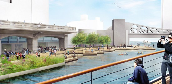 Chicago riverwalk (Courtesy Sasaki Associates)