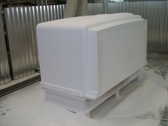 The FRP material during CNC routing. (Courtesy CTC)