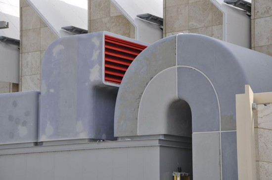 The cladding system during installation. (Courtesy CTC)