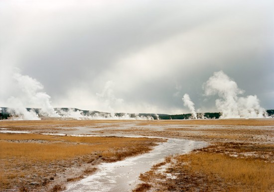 Untitled (Distant steam vents, Yellowstone), 2008