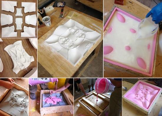 Creating the mold. (Courtesy Topocast)