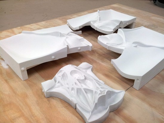 Pieces of the 9-part 3D print. (Courtesy Topocast)