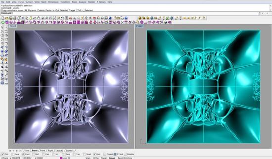 Developing the geometries in Rhino. (Courtesy Topocast)