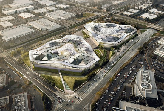 Rendering of Nvidia planned Silicon Valley headquarters in Santa Clara. (Courtesy Gensler)