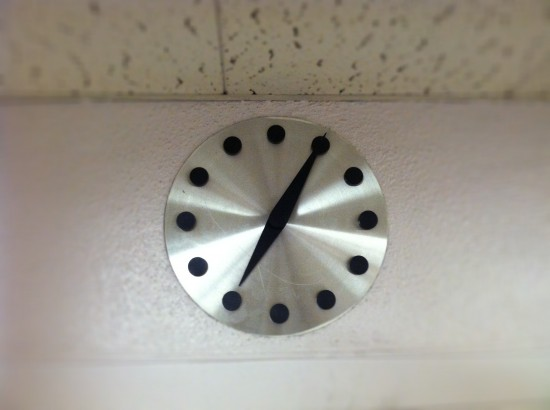Original E. Stewart Williams wall clock (Sam Lubell)