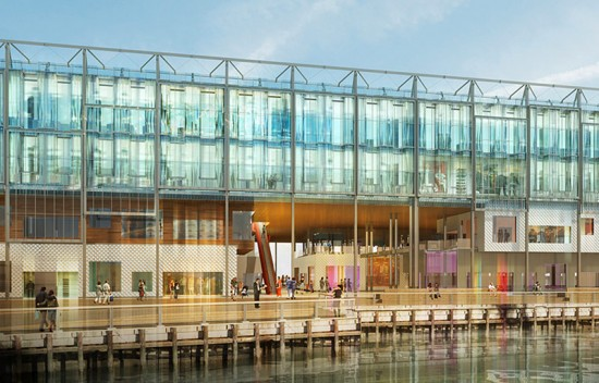 Proposed changes to Pier 17. (Courtesy SHoP)