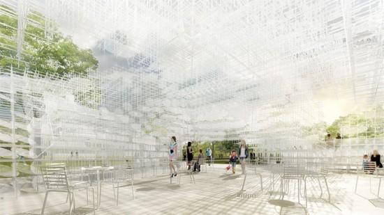 Rendering of Sou Fujimoto's 2013 Serpentine Gallery Pavilion. (Courtesy Sou Fujimoto)