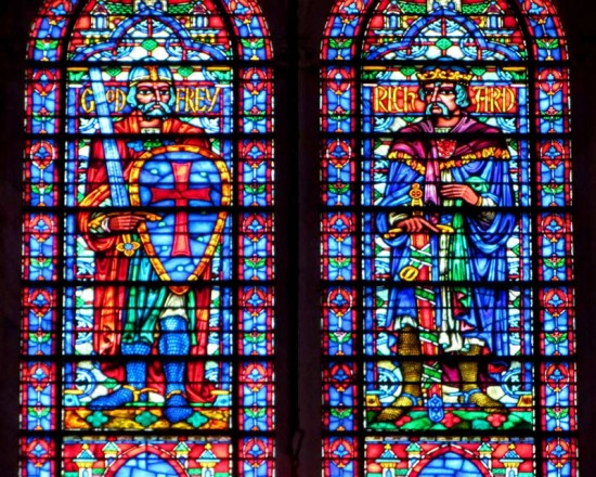 Stained glass window in Cathedral of St. John the Divine. (Courtesy of Loozrboy)