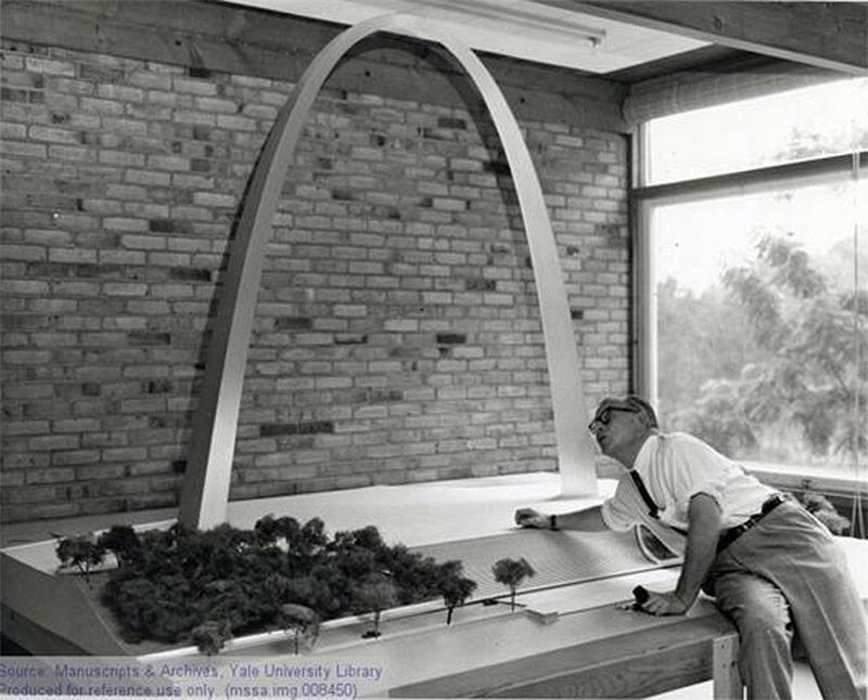 eero saarinen 39 s gateway arch in st louis broke ground 50 years ago today. Black Bedroom Furniture Sets. Home Design Ideas