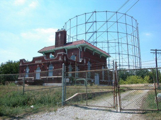 The last gasometer in St. Louis bites the dust. (Courtesy Michael R. Allen / Preservation Research Office)