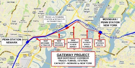 Map of the Amtrak Gateway Project. (Hopeful in NJ / Flickr)