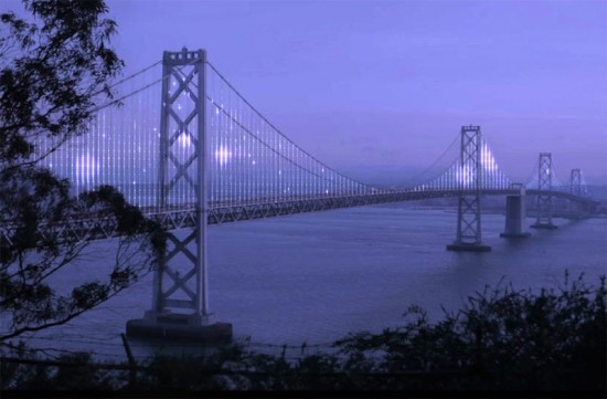 Rendering of the Bay Lights installation. (Courtesy Bay Lights)