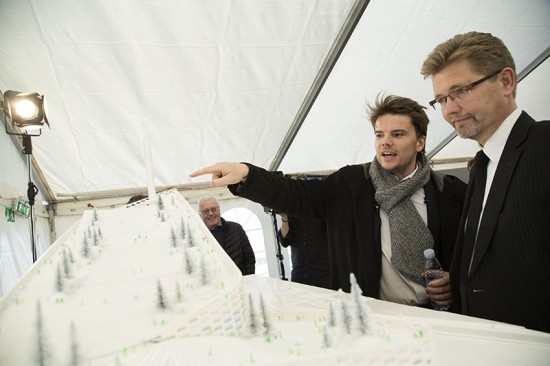 Bjarke Ingels & Lord Mayor of Copenhagen, Frank Jensen. (Christoffer Regild)