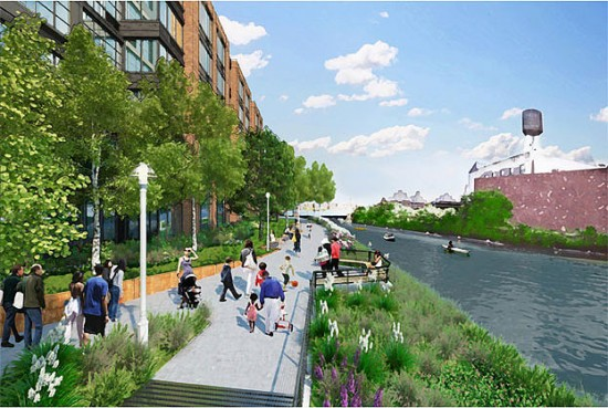 Lightstone Group's mixed-use development along the Gowanus Canal (Courtesy of Lightstone Group)