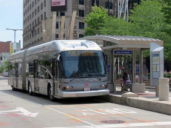 Cleveland's Health Line BRT System. (Roger DuPuis / Flickr)