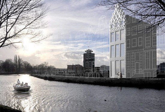 Rendering of DUS' proposed 3D printed house in Amsterdam. (Courtesy DUS)