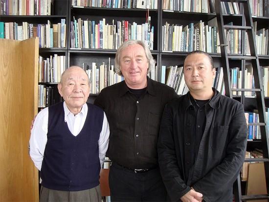 Left to right: Yukio Futagawa, Stevel Holl, Yoshio Futagawa. (Courtesy Steven Holl)