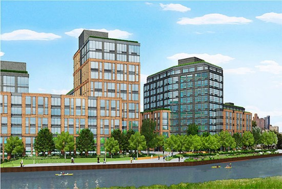 Lightstone Group's mixed-use development along the Gowanus Canal. (Courtesy of Lightstone Group)