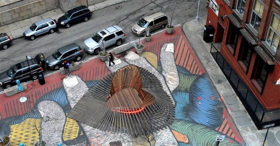 Sity Studio's Heartwalk installed in DUMBO. (Courtesy DUMBO Improvement District)