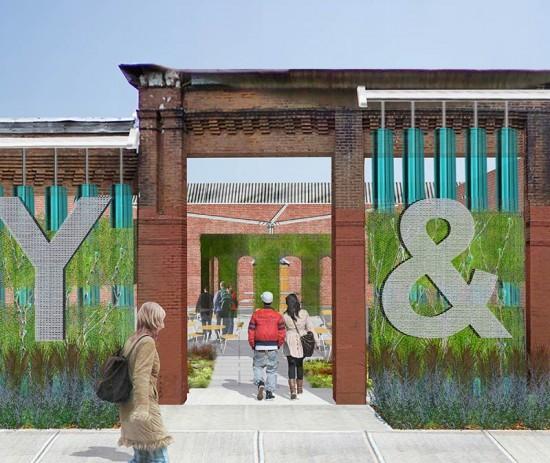 Leveraging Water + Plants for Zero Lot Sites. (Courtesy Community Design Collaborative)