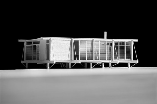 Model of Paul Rudolph and Ralph Twitchell's Cocoon House. (Courtesy Cooper Union)