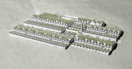 Model of Atelier 5's Siedlung Halen. (Courtesy Cooper Union)