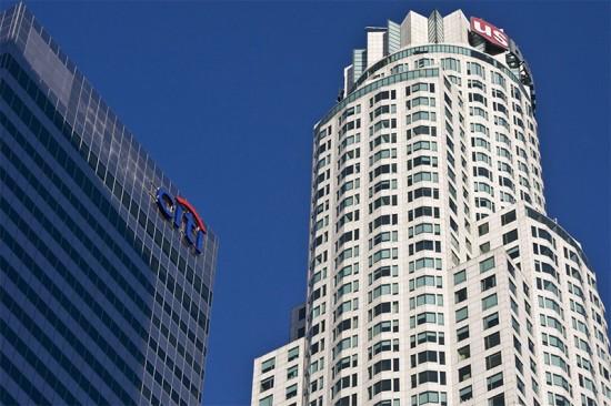 Top of the U.S. Bank Tower in Los Angeles. (cydog66 / Flickr)