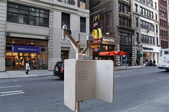 The Windchimes telephone booth. (Courtesy NYC Mayor's Office)
