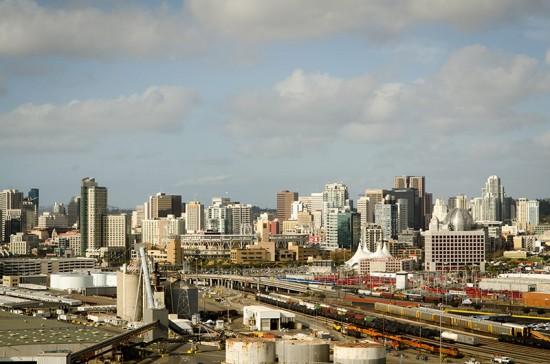 San Diego viewed from the Coronado Bay Bridge. (John Pastor / Flickr)