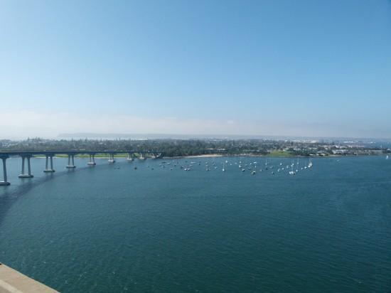 View from the top of San Diego's Coronado Bay Bridge. (KeyWestDavid / Flickr)