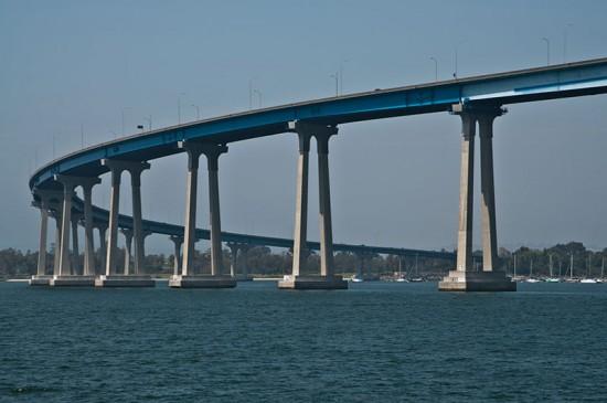 The Coronado Bay Bridge in San Diego. (Leo Suarez / Flickr)