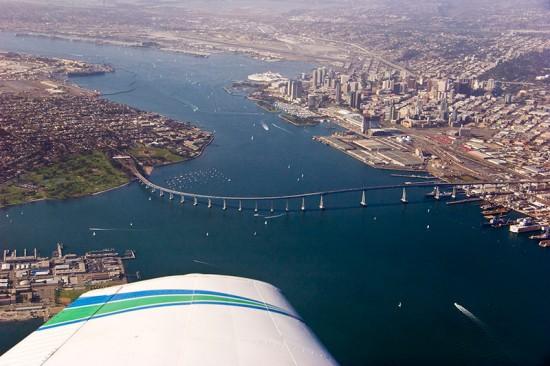 The Coronado Bay Bridge in San Diego. (Kevin Baird / Flickr)