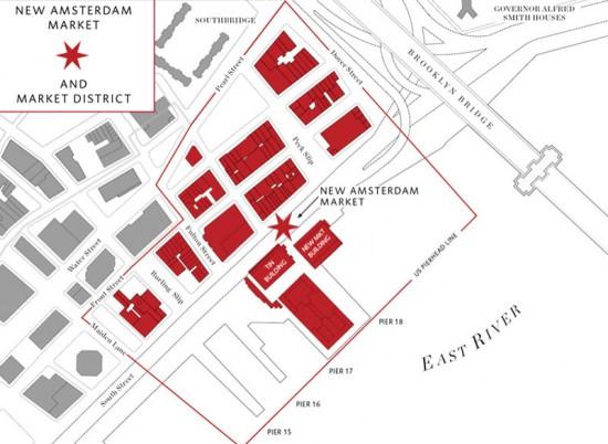 Plan for New Amsterdam Market (Courtesy of New Amsterdam Market)