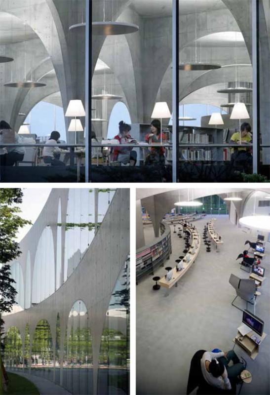 Toma Art University Library, Tokyo Japan, 2007. (Tomio Ohashi, Iwan Baan, lower right)