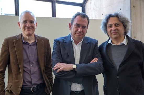 Preston Scott Cohen, Iñaki Ábalos and Mohsen Mostafavi (Courtesy Harvard GSD)