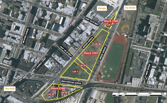 Bronxchester Project Parcels of Land (Courtesy of NYC Department of Housing Preservation and Development)