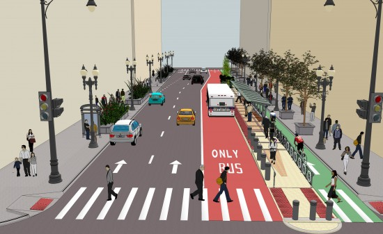 Chicago BRT Proposal. (Courtesy CDOT)