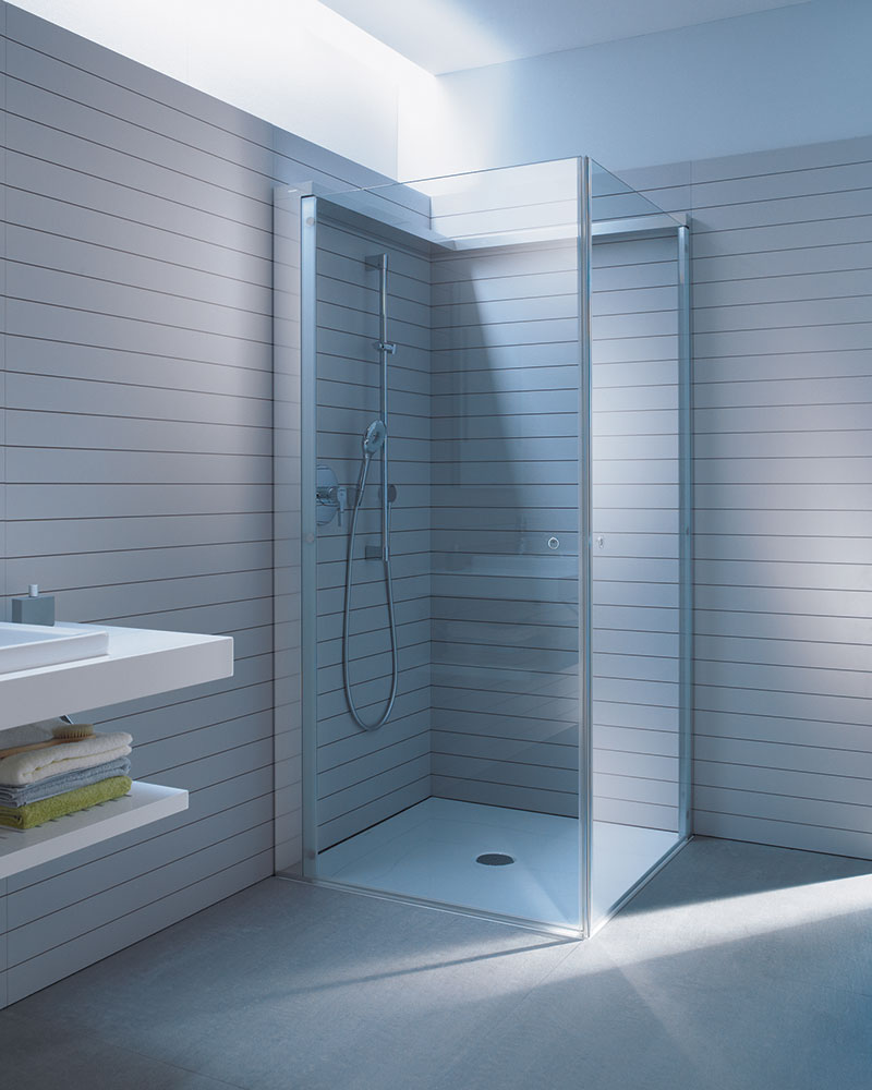 open space shower by duravit. bathroom divine design for small ...