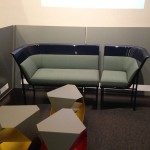 The sofa was finished with cushions from local upholsterer AJ Read. (Goetz Composites)