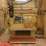 The fabricators used a CNC milling machine to cut molds from plywood and medium density fiberboard. (courtesy Associated Fabrication)
