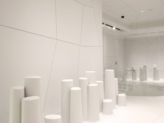 Each display was assembled from three individual parts into one seamless unit.