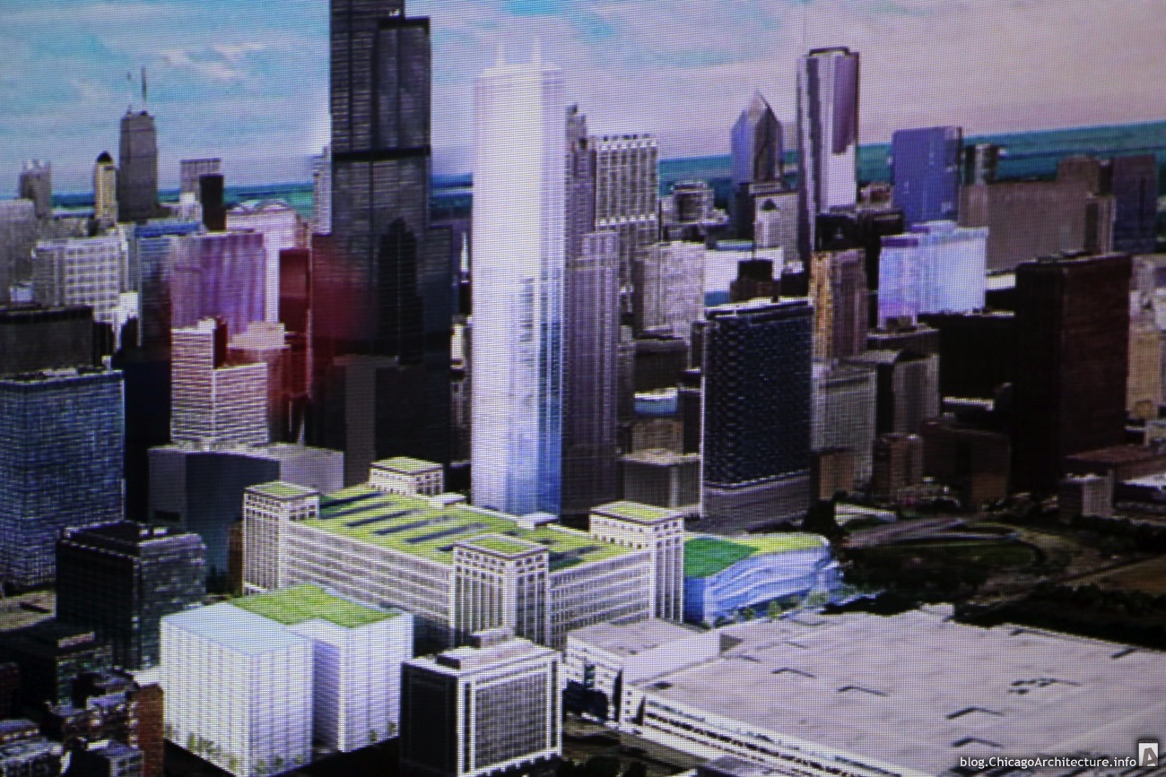Phase One Rendering of Old Main Post Office Redevelopment. (Courtesy Chicago Architecture Blog)