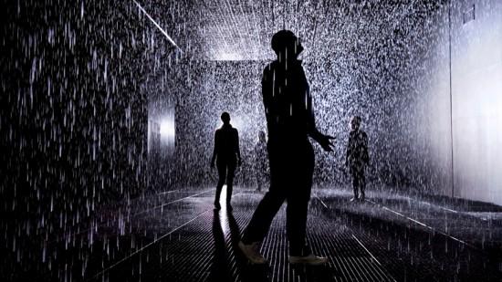 Photo of 'Rain Room', Courtesy of rAndom international