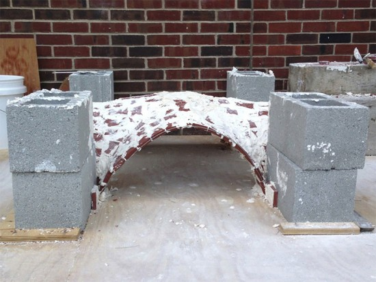 The first timbrel vault prototype. (Courtesy PennDesign Team)