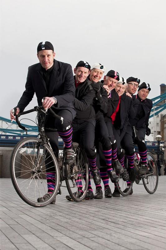 Riders in Paul Smith Socks. (Greg Bartley)